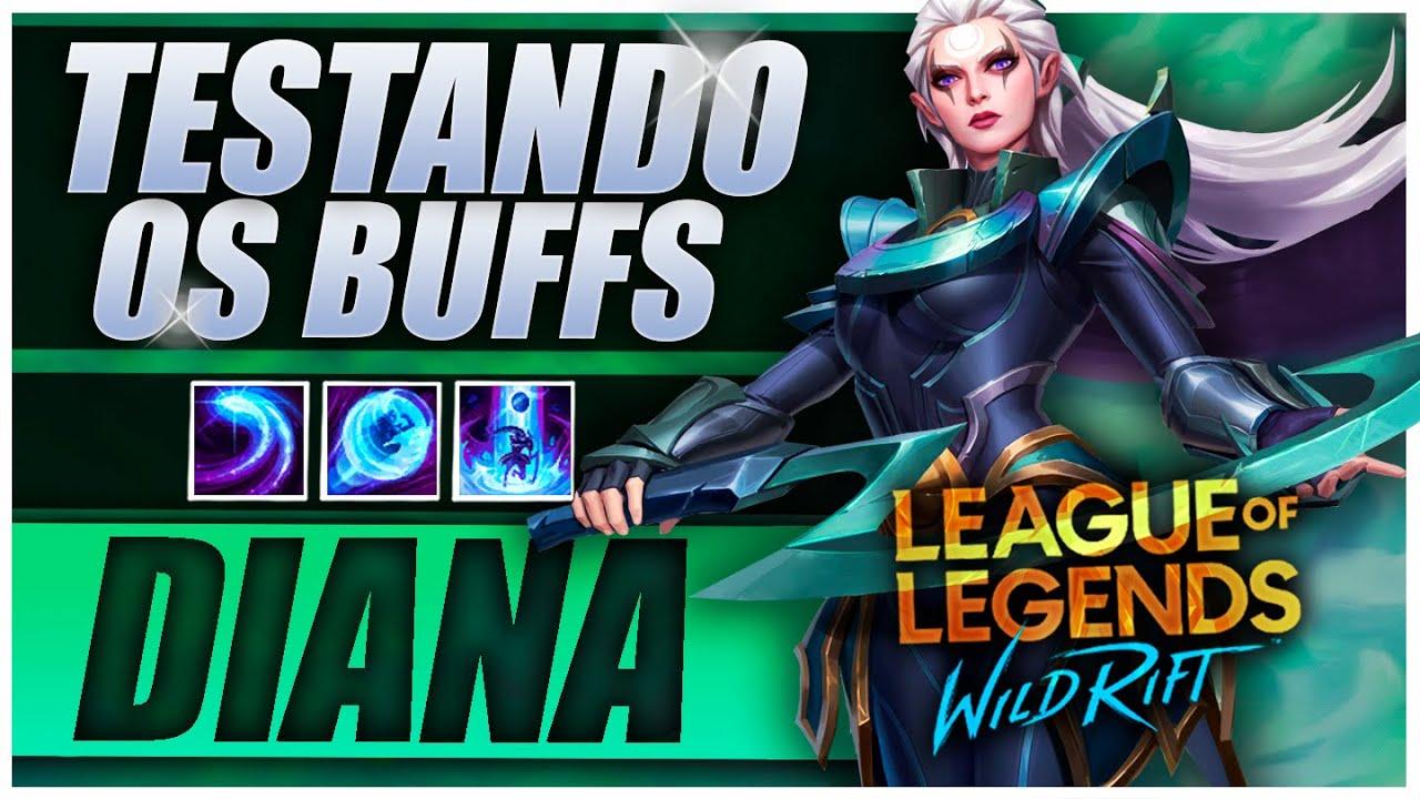 Testando o MAIOR BUFF DO PATCH! Diana Mid LoL Wild Rift Gameplay PT-BR