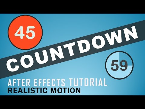 Countdown Effect 2017 |  After Effects Tutorial | Realistic Motion