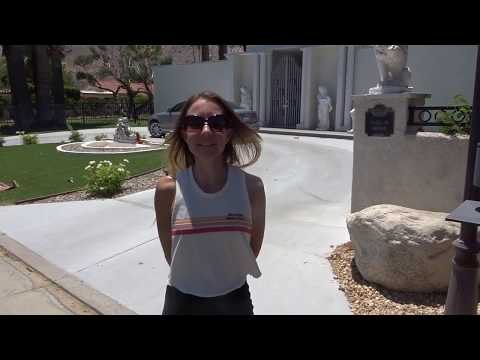 Video 7 Palm Springs Star's homes. Liberace the Actor Pianist home until 1987