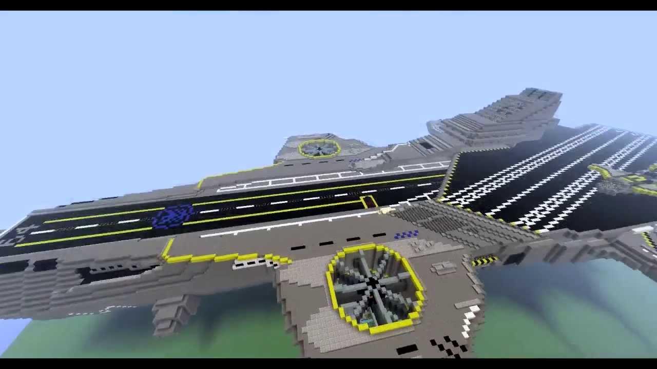 shield helicarrier avengers minecraft youtube