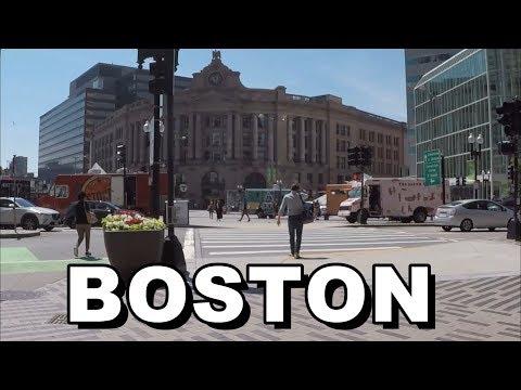 Boston, Massachusetts, USA   Street Walk 2019