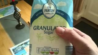 Aldis 1kg bag of granulated sugar the pantry