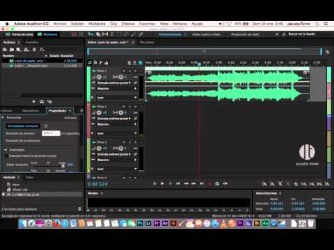 Tutorial - Acortar o Agrandar audio sin que se note nada con Adobe Audition CC2015.1
