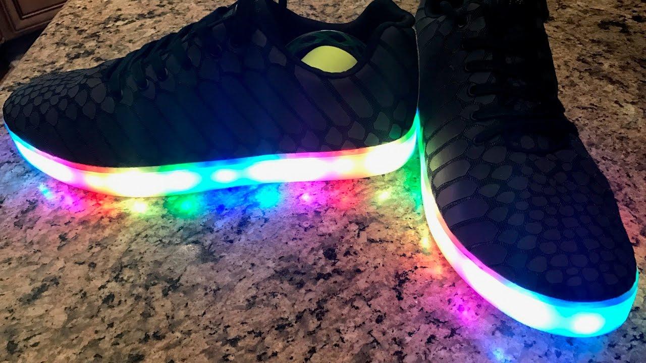 9f3896822480 LED Tech Shoes Sync Footwear App iPhone Android Samsung Night Club Gadget  Music Dance DJ Fashion