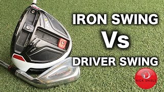 One of Rick Shiels Golf's most viewed videos: IRON SWING Vs DRIVER SWING