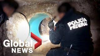 Mexico Police Dis Tunnel Under U.s. Border