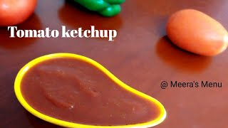 Home Made Tomato Ketchup || Tomato Sauce Recipe in Malayalam (English Subtitle) || Recipe 24