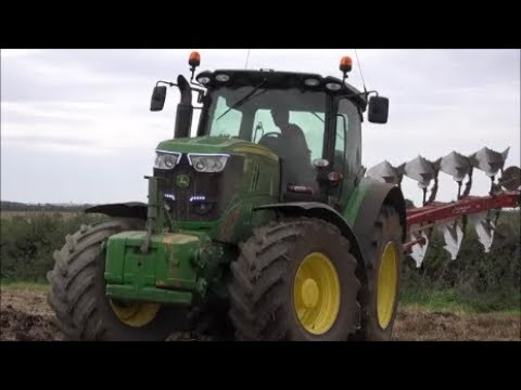 John Deere and Fendt Ploughing and Pressing