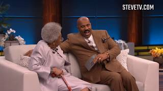 Steve Harvey Finally Meets Viral 92-Year-Old 'Black Panther' Star