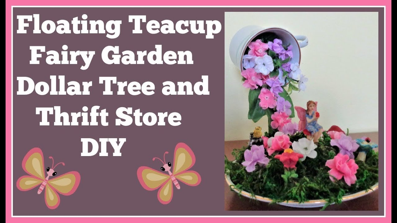 Christmas Floating Tea Cups.Floating Teacup Fairy Garden Diy