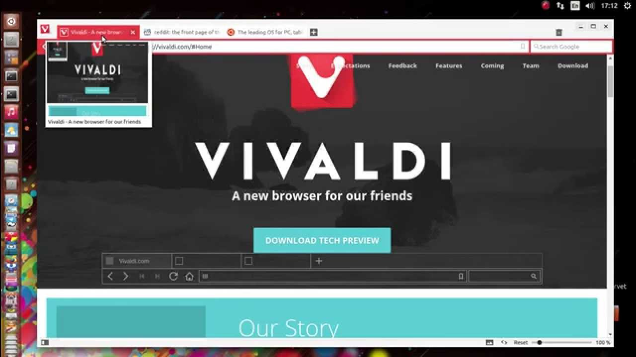 Vivaldi for Linux full screenshot