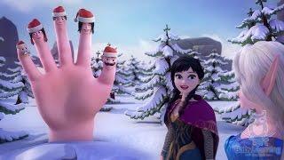 ❄ FROZEN 🎄 Christmas Finger Family Song 🎅 Christmas Carol | FROZEN Finger Family Christmas Songs