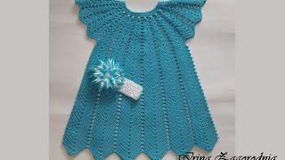 Платье крючком-вязание крючком.Детское летнее платье-видео
