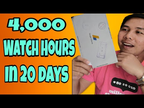 How to Get 4000 Watch Hours Fast - Get Monetized in 20 Days - for New  Youtuber (Filipino) 2020