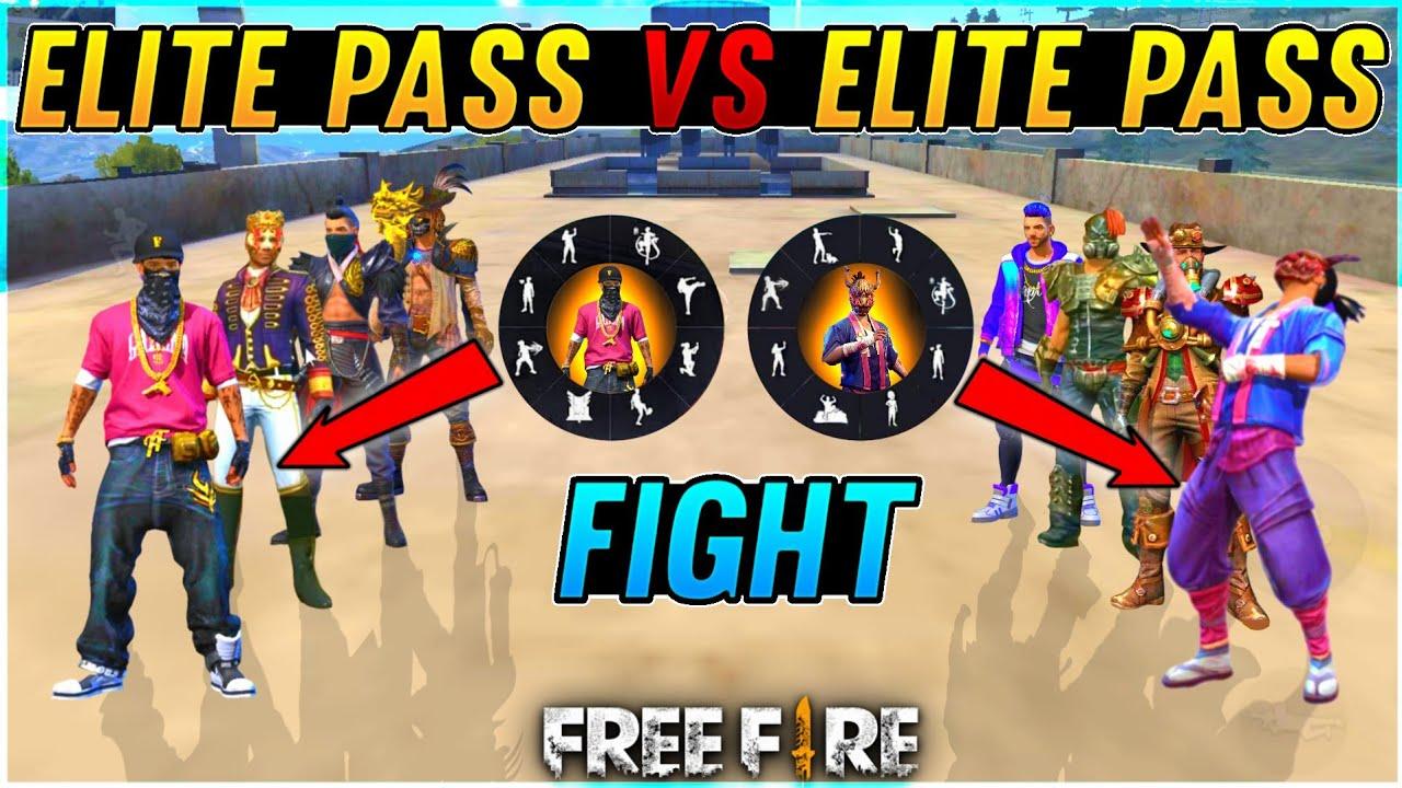 Elite Pass Vs Elite Pass Bundle Fight - Who Have Rare Elite Pass & Rare Emote - Garena Free Fire