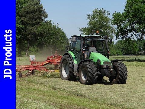 Deutz Agrotron 85 MK3/Gras Harken/Raking Grass/Gras Schwadern/Speuld/Niemeyer Twin 745-VS