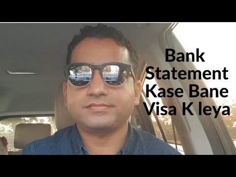 How To Maintain Bank Statement For Visa Easy Formula