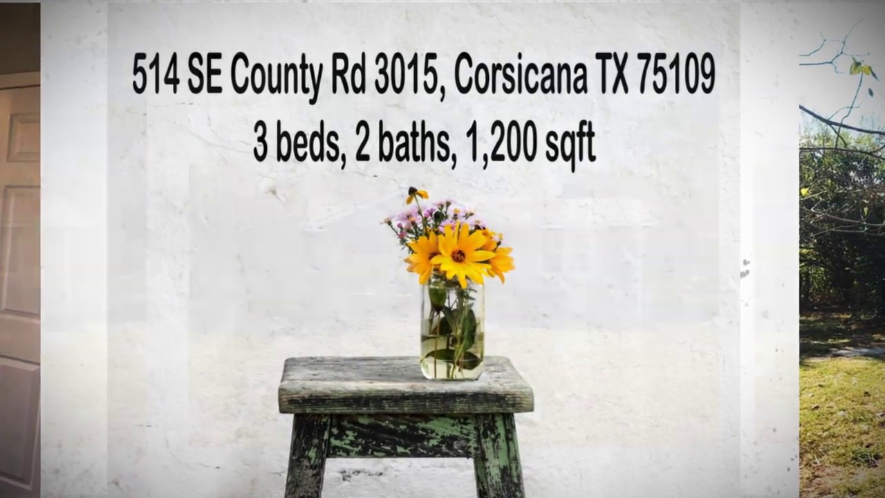 FOR SALE @ $119K: 514 SE County Rd 3015 Corsicana TX 75109