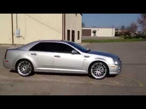 22 Inch Savini Bm4 Wheels 2011 Cadillac Sts Youtube