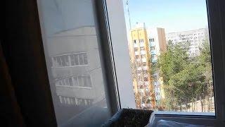 Оконный откос в квартире из плитки ч 1
