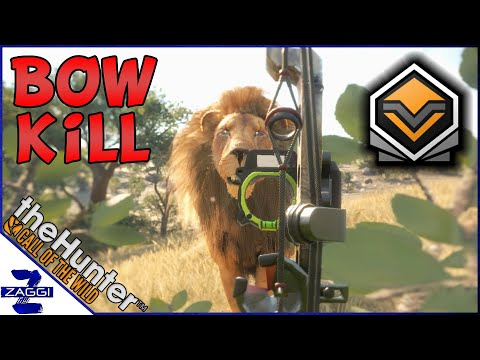 Bow Hunting a Diamond Lion (Almost Gone Wrong)! Call of the Wild
