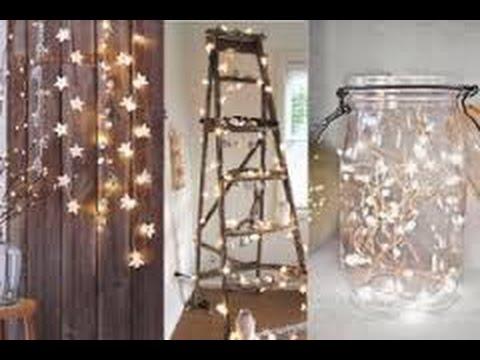 Ideas para decorar con luces la navidad 40 formas - Ideas para decorar estrellas de navidad ...