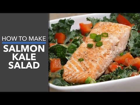 Easy Balsamic Glazed Salmon and Massaged Kale Salad