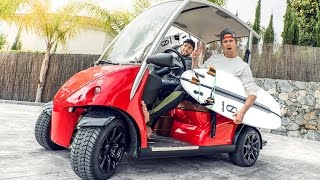 GOLFCARTING TO SURFING IN MARBELLA! EPIC!!! | VLOG 337
