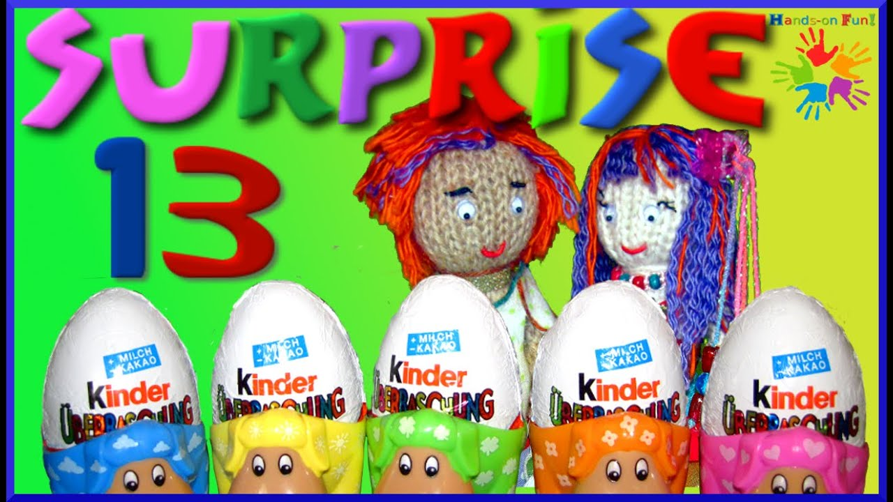13 Kinder Surprise Eggs, SPONGEBOB, BATMAN, POLLY, - Magic Kinder ...