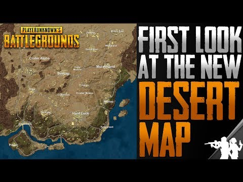 First Look at the OFFICIAL Desert Map in Player Unknown's Battlegrounds | New Data Mined Desert Map