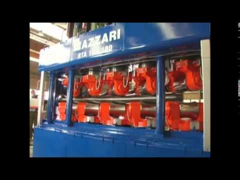 Straightening machine for oil and gas pipes