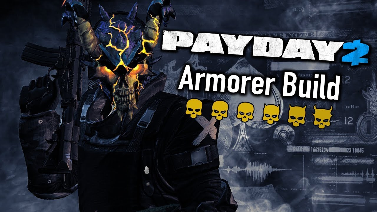 payday 2 armorer one down build youtube. Black Bedroom Furniture Sets. Home Design Ideas