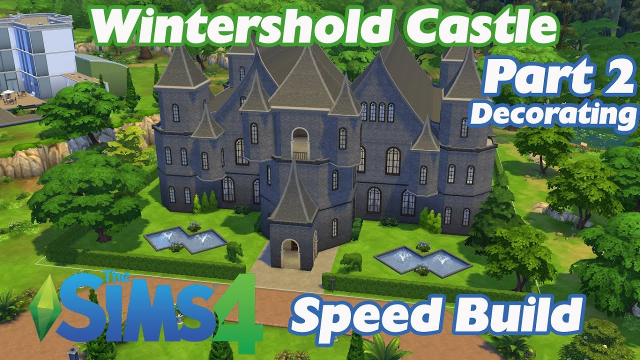 wintershold castle part 2 decorating the sims 4 speed build