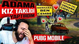 RASTGELE TAKIMA KIZ TAKLİDİ YAPTIRDIM - PUBG Mobile Troll Komik Anlar