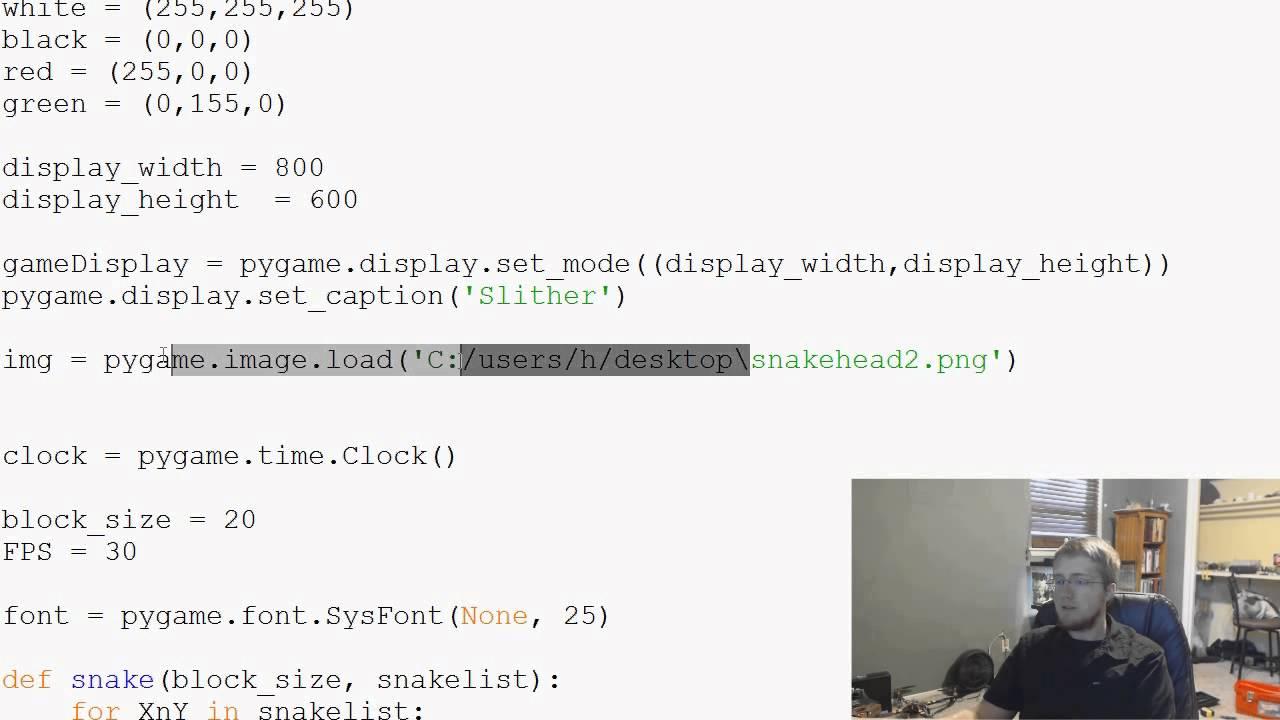 Pygame (Python Game Development) Tutorial - 29 - Attaching Snakes Head to  Body