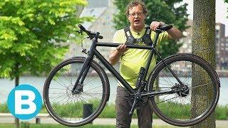 Aan deze lichte e-bike zie je niet dat het een elektrische fiets is
