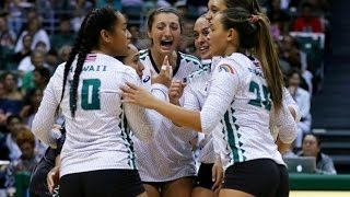 Rainbow Wahine Volleyball 2016 - Hawaii Vs Arizona (HD version)
