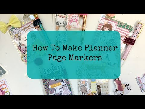 How To Make Planner Page Markers