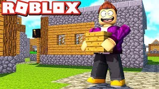 NOUS BUILD A MINECRAFT CITY IN ROBLOX!