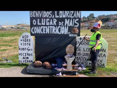 Performance de los vecinos de Lourizán contra la EDAR de Praceres