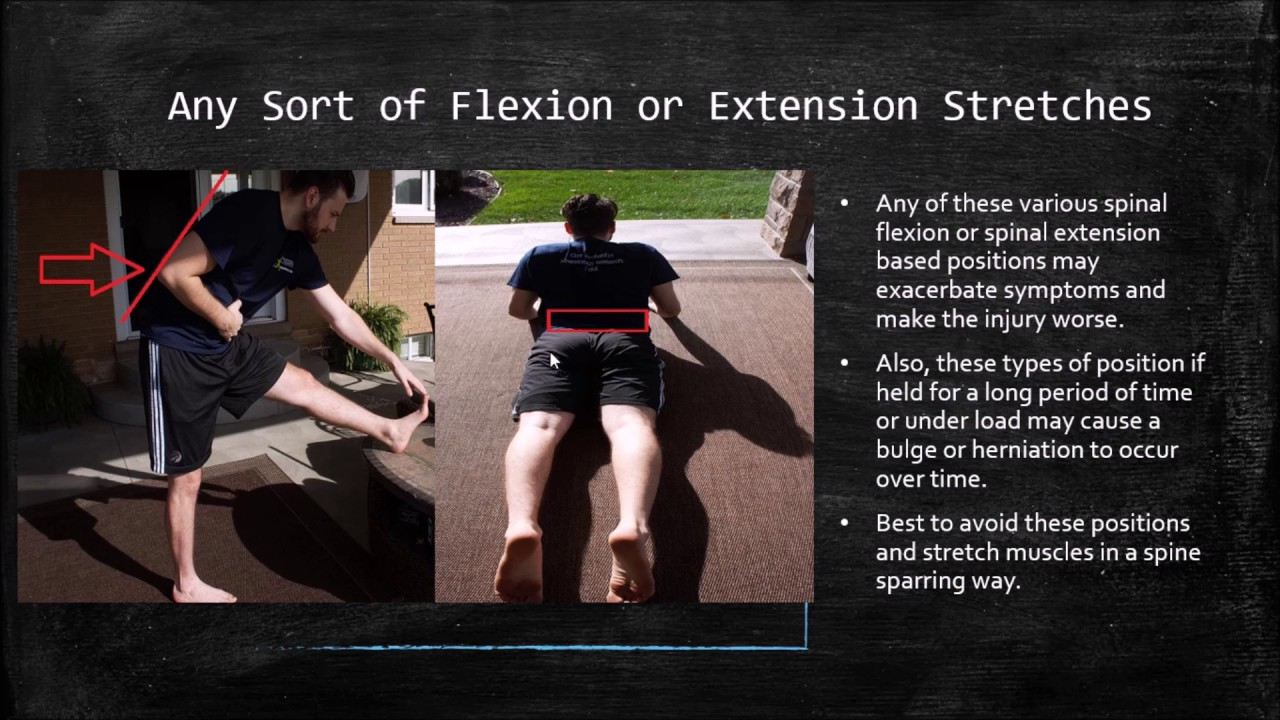 Exercises To Avoid For A Disc Bulge Or Disc Herniation Part 2