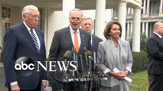 Trump walks out of meeting with congressional leaders