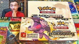 Ouverture d'un Display Pokémon Noir et Blanc LEGENDARY TREASURES ! #1 CARTE ULTRA-RARE EN MASSE !