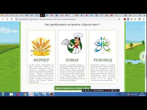 ogorod.cash новая экономическая игра на  которой можно  заработать реальные деньги
