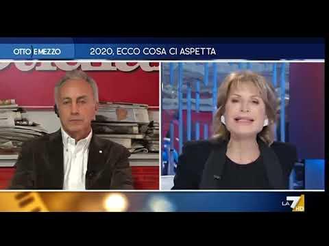 Marco Travaglio, Agnese Pini, Alessandro Sallusti E Beppe Severgnin Ia Otto E Mezzo Del 02/01/2020