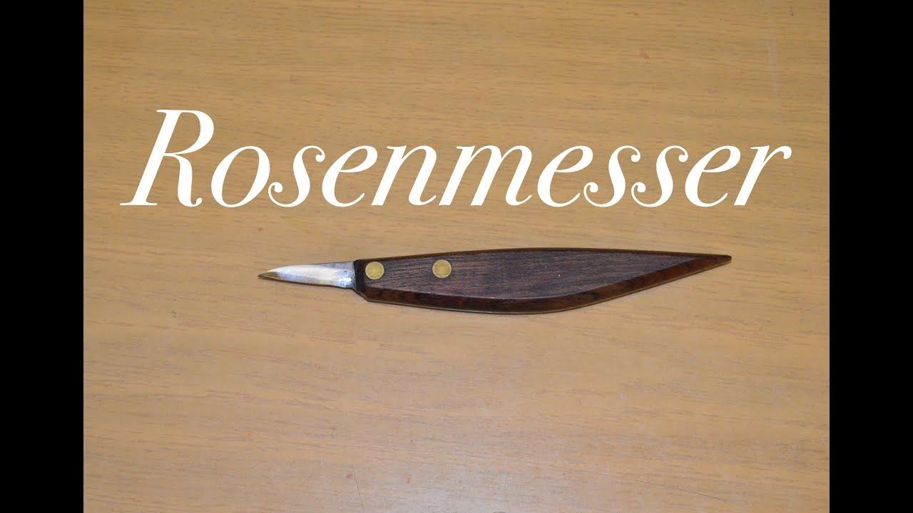 rosenmesserform : schnitzmesser - youtube