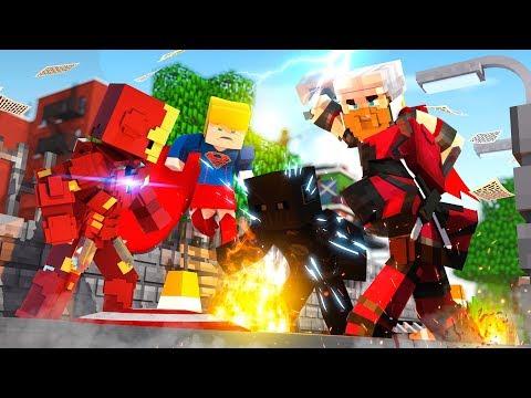 YOUTUBER SUPERHERO RUMBLE - Minecraft Superhero Fight w/ Atlantis