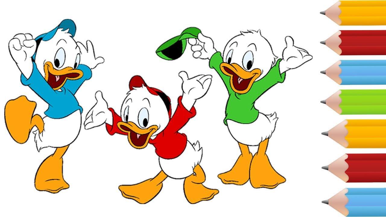 Coloring Pages Book Ducktales And Drawing For Kids