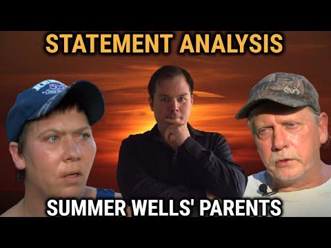 Statement Analysis of Summer Wells' Parents in Interview | Summer Wells Missing