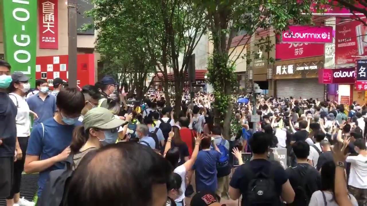 Hong Kong: Miles de jóvenes se manifiestan en contra de polémica ley de seguridad dictada por China